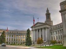 De Bouw van het Capitool van Denver stock afbeelding
