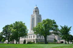 De Bouw van het Capitool van Nebraska Stock Foto's