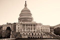 De bouw van het Capitool van Verenigde Staten Royalty-vrije Stock Fotografie