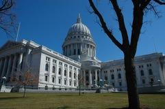 De Bouw van het Capitool van Wisconsin Stock Foto's