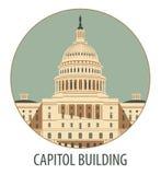 De Bouw van het Capitool in Washington Stock Afbeelding