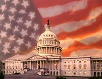 De Bouw van het Capitool - Washington DC Royalty-vrije Stock Afbeeldingen