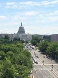 De bouw van het Capitool in Washington DC Royalty-vrije Stock Afbeeldingen