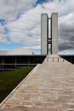 De Bouw van het congres in Brasilia Stock Afbeeldingen