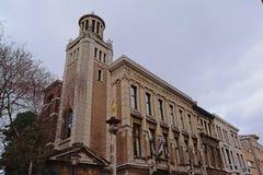 De bouw van het consulaat van Lesotho van eer, Antwerpen, België stock afbeelding