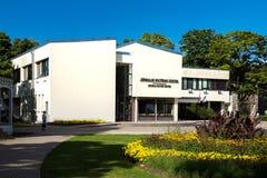 De bouw van het cultuurcentrum in Jurmala-stadscentrum, Letland Royalty-vrije Stock Afbeeldingen
