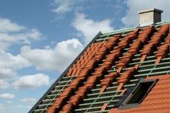 De bouw van het dak stock foto