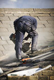 De bouw van het dak Stock Afbeelding