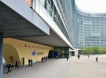 De bouw van het de Europese Commissie hoofdkwartier in Brussel Royalty-vrije Stock Foto's