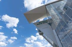 De bouw van het de wetenschapscentrum van Connecticut Stock Afbeeldingen