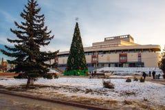 De bouw van het dramatheater in Ivanovo Stock Afbeeldingen