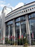 De bouw van het Europees Parlement Royalty-vrije Stock Foto's