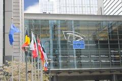 De bouw van het Europees Parlement Stock Fotografie