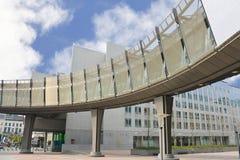 De bouw van het Europees Parlement Royalty-vrije Stock Foto
