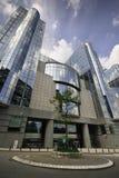 De bouw van het Europees Parlement - Brussel, België Stock Afbeeldingen