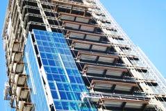 De Bouw van het flatgebouw met koopflats Royalty-vrije Stock Foto