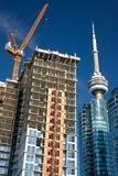 De Bouw van het flatgebouw met koopflats in Toronto Royalty-vrije Stock Foto