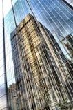 De bouw van het glas stock foto