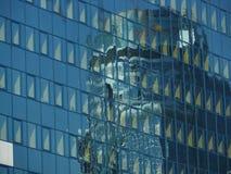 De bouw van het glas in Warshau Stock Afbeeldingen