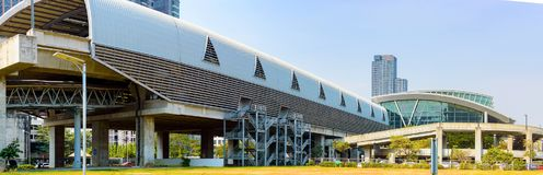De bouw van het Hemelstation in Bangkok Mening van de buitenkant Royalty-vrije Stock Foto's