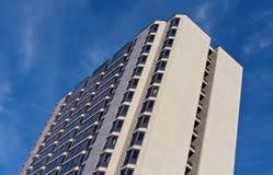 De bouw van het hotel stock fotografie