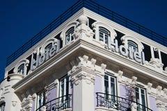 De bouw van het hotel royalty-vrije stock afbeeldingen
