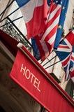 De bouw van het hotel Facade Royalty-vrije Stock Foto's