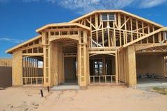 De bouw van het huis. Royalty-vrije Stock Foto