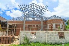 De bouw van het huis Stock Afbeelding