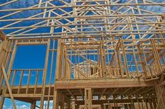 De bouw van het huis. Stock Fotografie