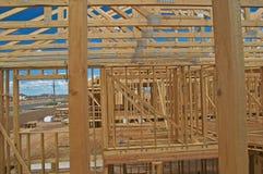 De bouw van het huis. Royalty-vrije Stock Afbeeldingen