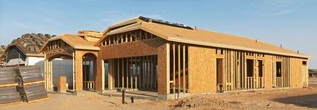De bouw van het huis. Stock Foto's