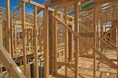 De bouw van het huis. Stock Afbeeldingen