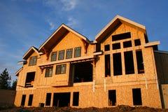De bouw van het huis Stock Foto's
