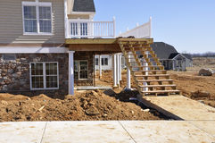 De bouw van het huis stock foto
