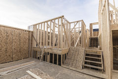 De bouw van het huis Stock Fotografie