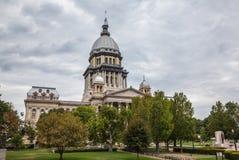 De Bouw van het Huis en van het Capitool van de Staat van Illinois Stock Foto