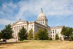 De Bouw van het Huis en van het Capitool van de Staat van Oklahoma Stock Afbeelding