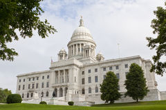 De Bouw van het Huis en van het Capitool van de Staat van Rhode Island Stock Afbeeldingen