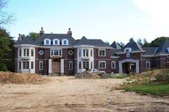 De Bouw van het Huis van de luxe royalty-vrije stock afbeelding