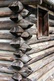 De Bouw van het Huis van het logboek stock foto's