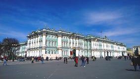 De bouw van het Kluismuseum in St. Petersburg Het de Winterpaleis Stock Afbeeldingen