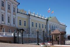 De bouw van het Kremlin, stad Kasan royalty-vrije stock fotografie