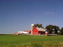 De bouw van het landbouwbedrijf in de zomer Stock Afbeelding