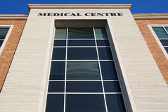 De bouw van het medische Centrum Stock Afbeeldingen