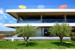 De bouw van het moderne luxehotel Royalty-vrije Stock Afbeelding