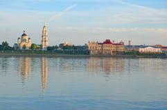 De bouw van het museum-Domein van Rybinsk en de Transfiguratiekathedraal Rybinsk Rusland Royalty-vrije Stock Foto