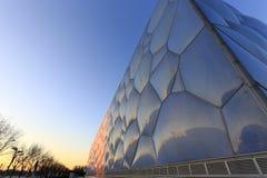 De bouw van het nationale zwemmende centrum van China Stock Afbeelding