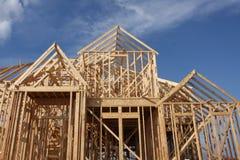 De Bouw van het nieuwe Huis Stock Foto's