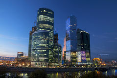 Nieuw internationaal commercieel centrum in Moskou Royalty-vrije Stock Afbeelding